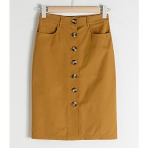 & Other Stories Twill Workwear Skirt